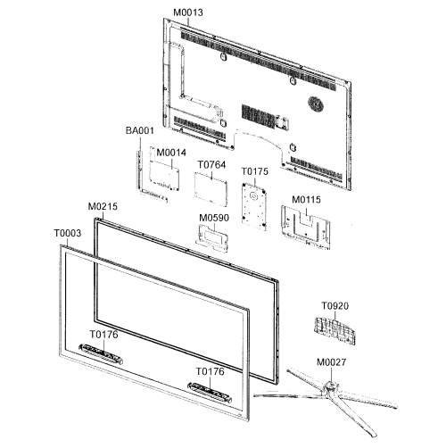 small resolution of samsung model un55c6500vfxza lcd television genuine parts source four led parts diagram led part diagram