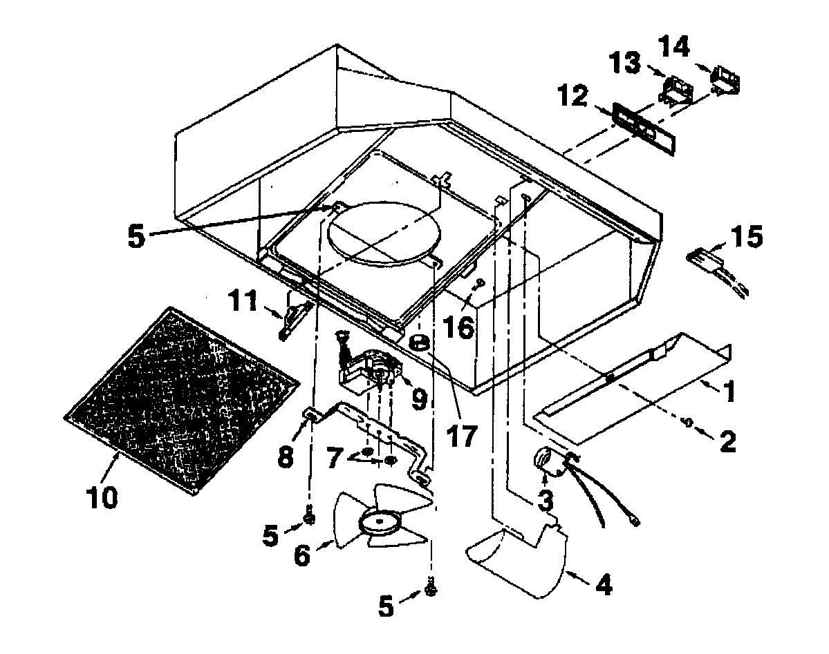hight resolution of broan 414201 range hood diagram