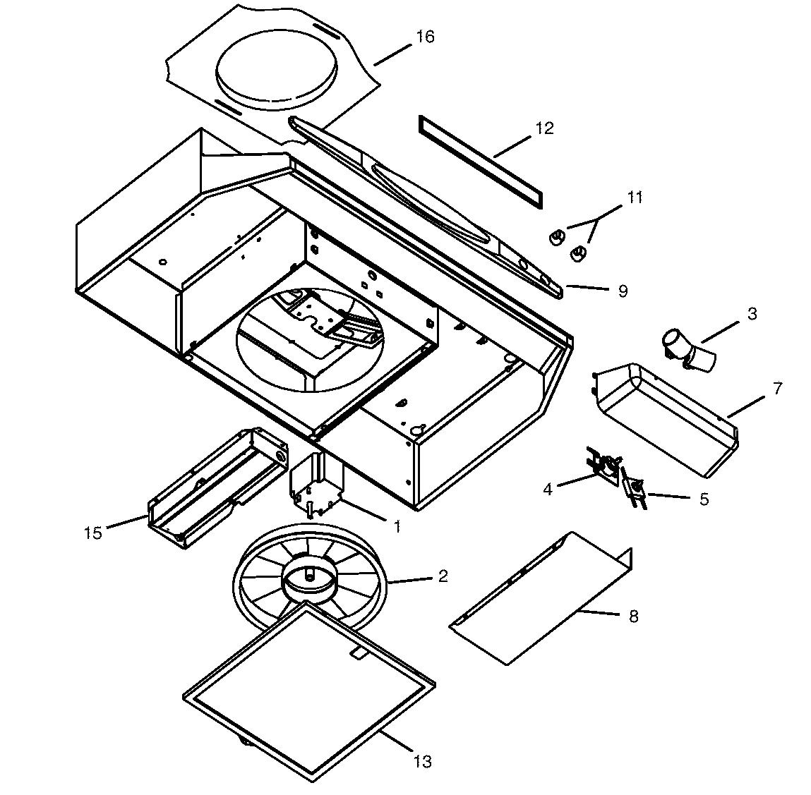 broan range hood wiring diagram a c compressor capacitor quiet parts model qt230aa sears partsdirect