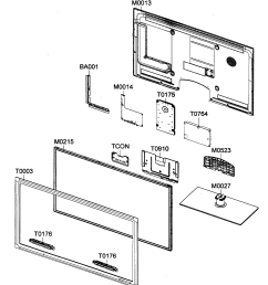 looking for samsung model un40c5000qfxza lcd television repair cabinet parts diagram and parts list for samsung televisionparts [ 1924 x 2142 Pixel ]