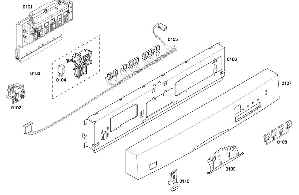 medium resolution of bosch model she43f06uc 50 dishwasher genuine partsbosch dishwasher wiring diagram 17