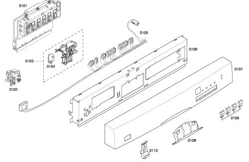 small resolution of bosch model she43f06uc 50 dishwasher genuine partsbosch dishwasher wiring diagram 17