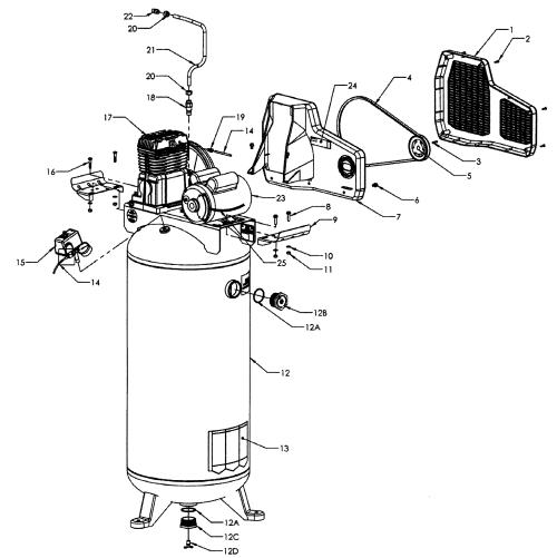 small resolution of craftsman 92116476 compressor diagram