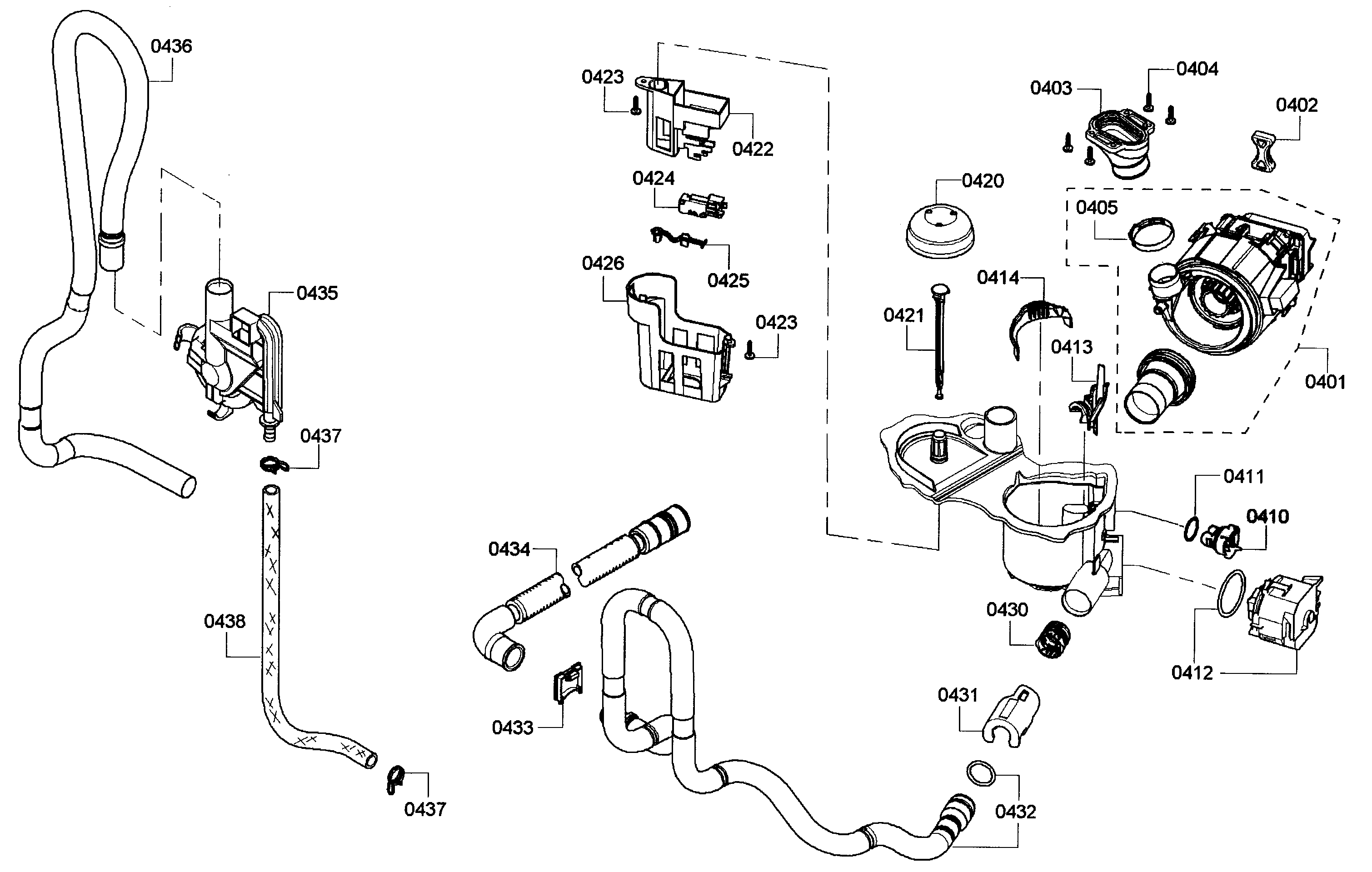 PUMP Diagram & Parts List for Model 63013913010 Kenmore