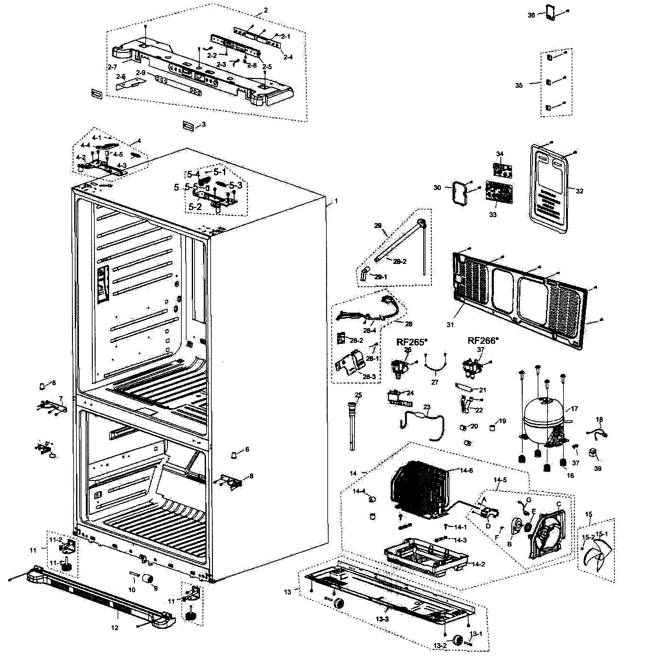 French Door Refrigerator: Parts For Samsung French Door