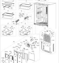 samsung model rf217acbp xaa 0000 bottom mount refrigerator genuine parts [ 1323 x 1782 Pixel ]