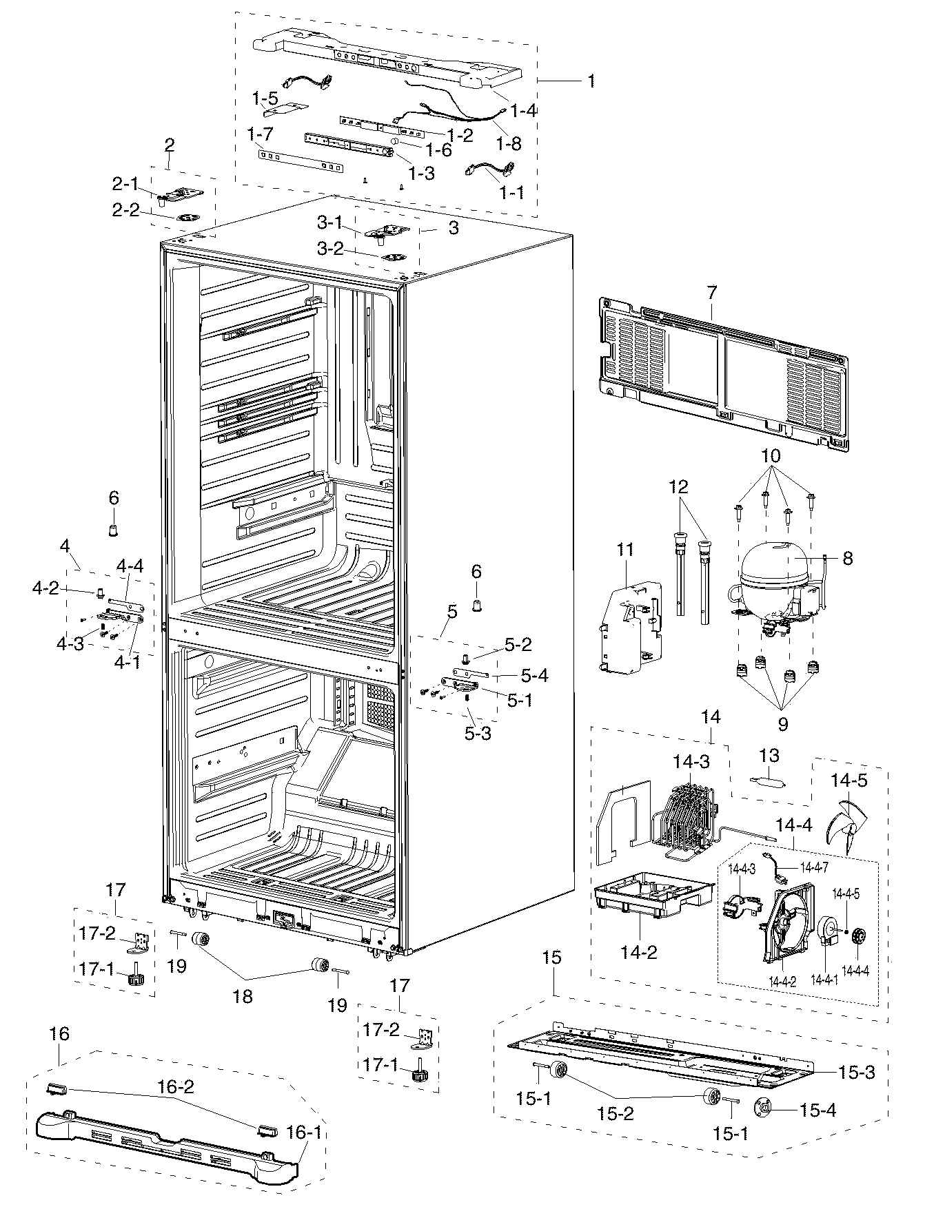 Refrigerator Parts: Samsung Refrigerator Parts Manual