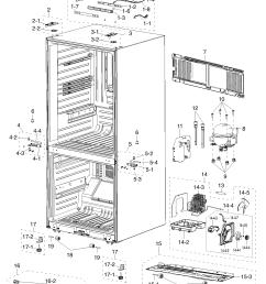 samsung rf217acbp xaa 00 cabinet diagram [ 1342 x 1755 Pixel ]