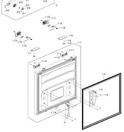 samsung rf217acbp xaa 00 freezer door diagram [ 1295 x 1755 Pixel ]
