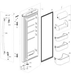 samsung model rf217acbp xaa 0000 bottom mount refrigerator genuine parts [ 1284 x 1328 Pixel ]