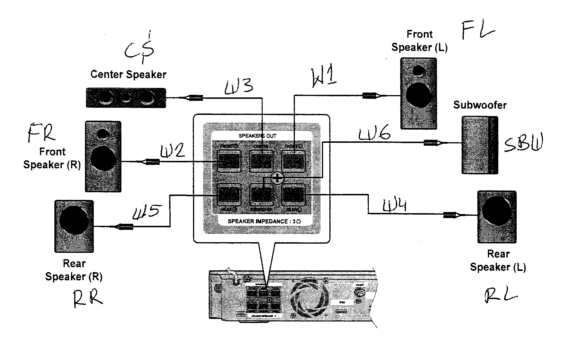 SPEAKERS Diagram & Parts List for Model HTC6600XAA Samsung