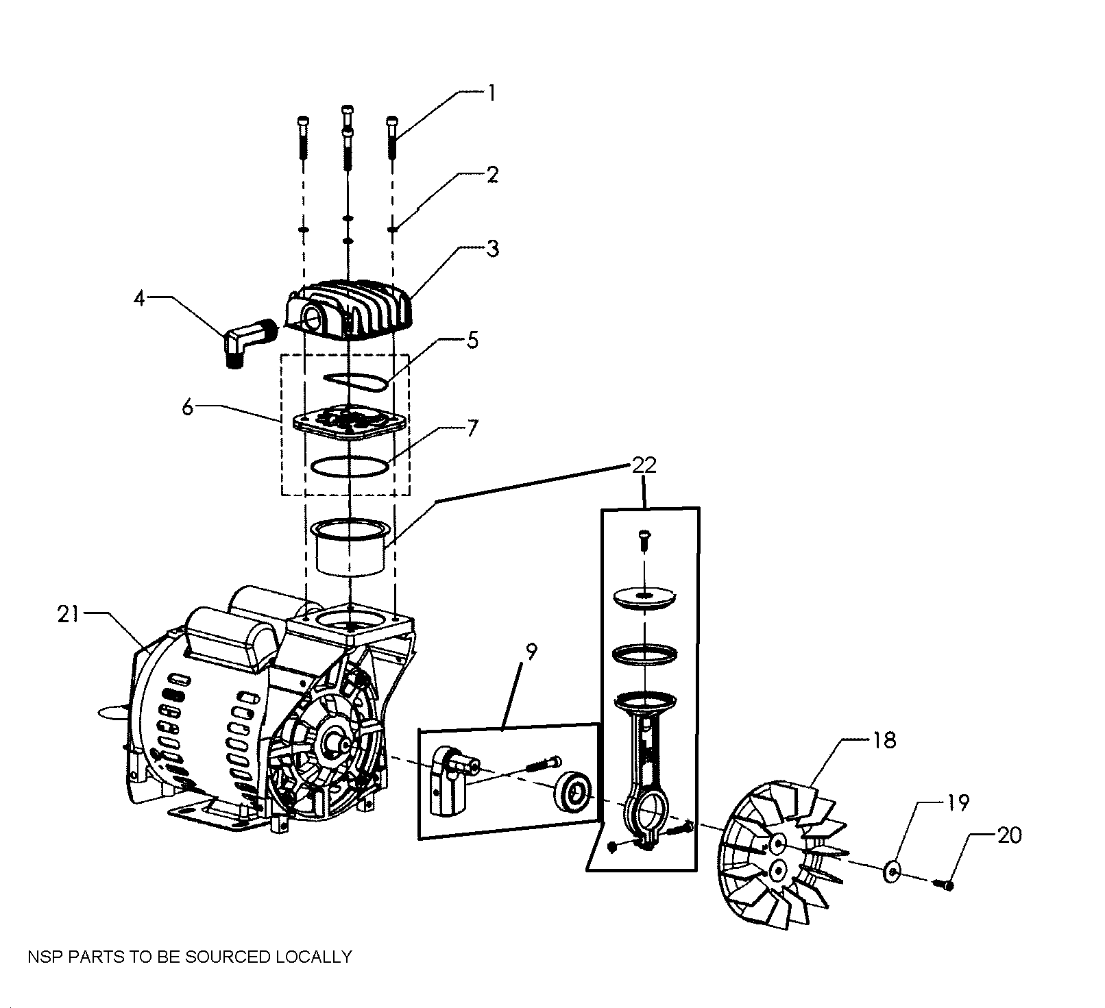PUMP ASSY Diagram & Parts List for Model 92116473