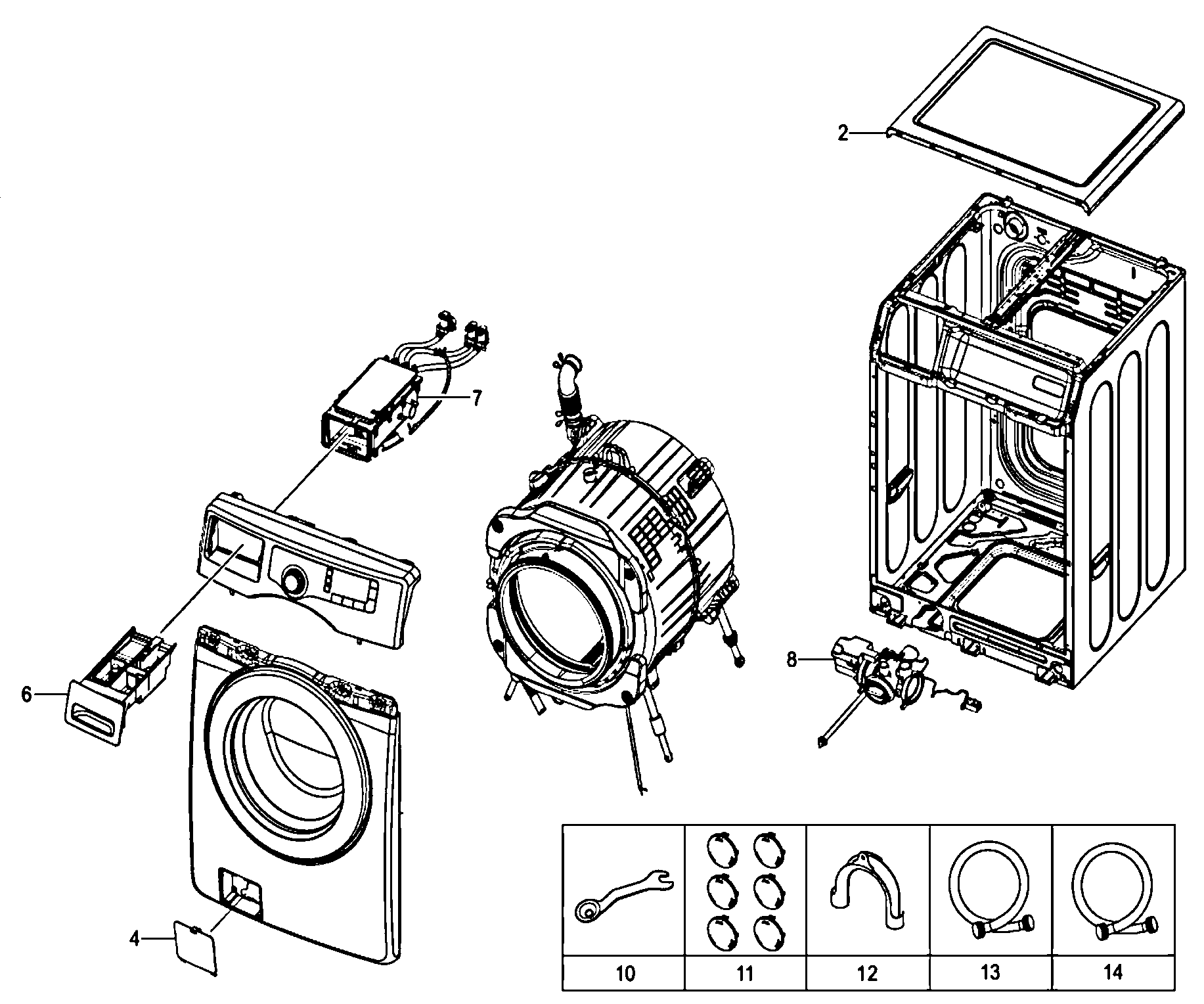 Front Load Washer: Parts For Samsung Front Load Washer