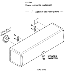 Parts Of A Speaker Diagram Electric Furnace Onkyo Model Skc580 Sears Partsdirect