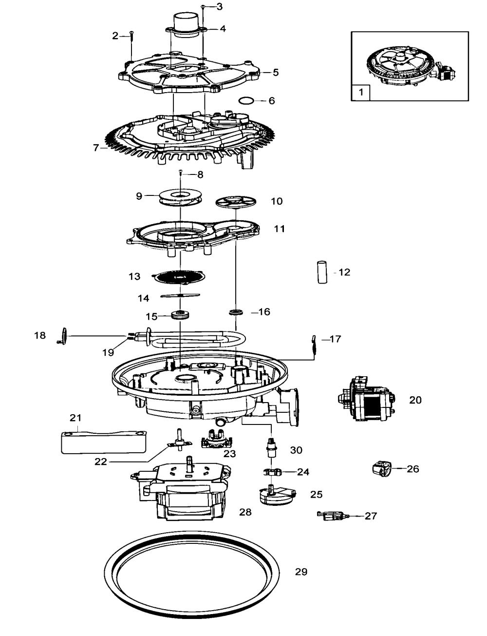 medium resolution of samsung dmt800rhs xaa pump assy diagram