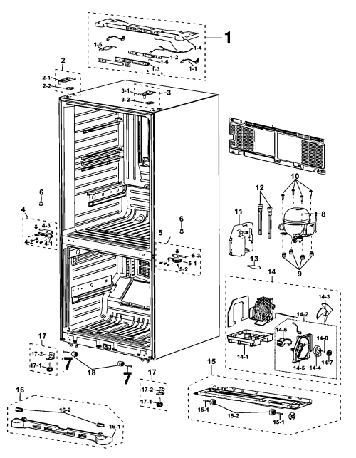 small resolution of samsung rf197acrs xaa 00 cabinet diagram