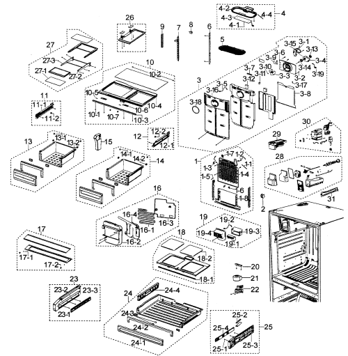 small resolution of samsung refrigerator wiring diagram rfg297aars wiring library