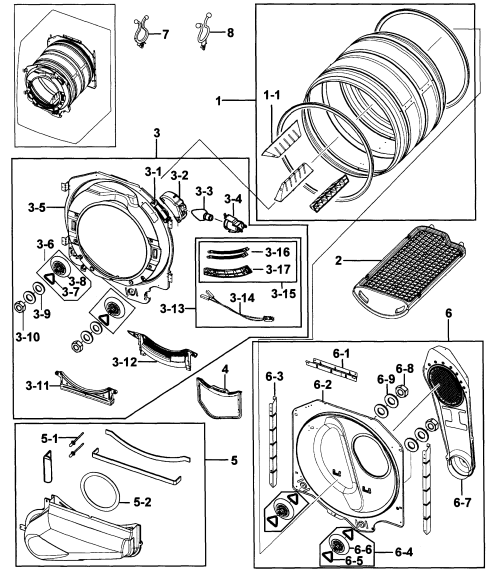 small resolution of samsung dv219aew xaa 00 drum assy diagram