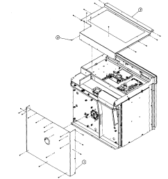 dacor mov227s top back assy diagram [ 2544 x 2502 Pixel ]