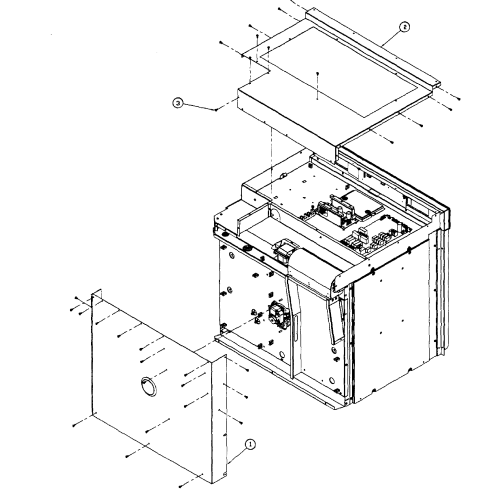 small resolution of dacor mov227s top back assy diagram