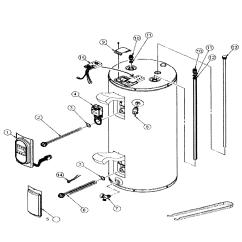 Water Heater Timer Wiring Diagram Fasco 9721 Motor Whirlpool Parts Model Es50r12345d Sears