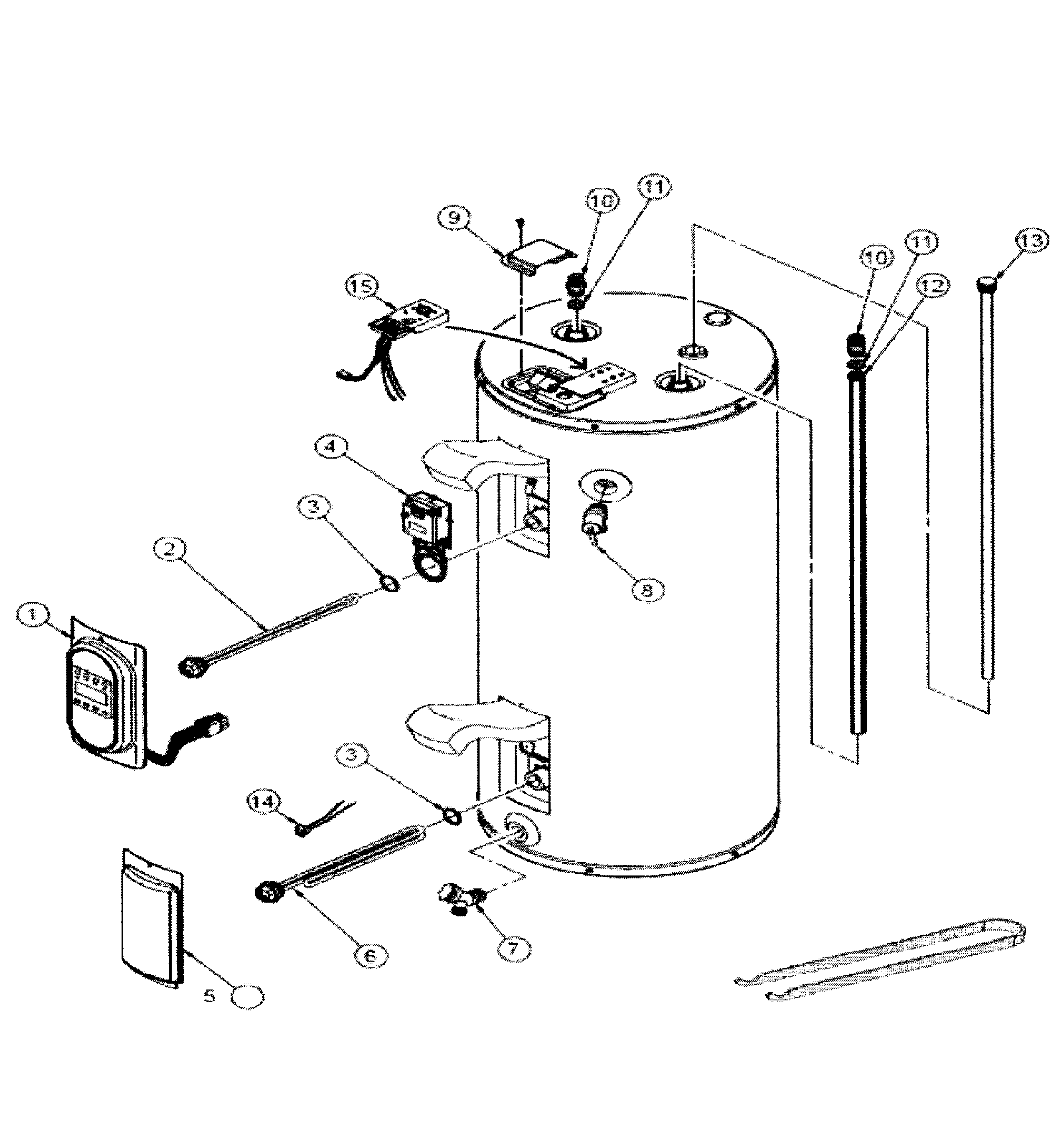 american electric water heater thermostat wiring [ 2547 x 2703 Pixel ]