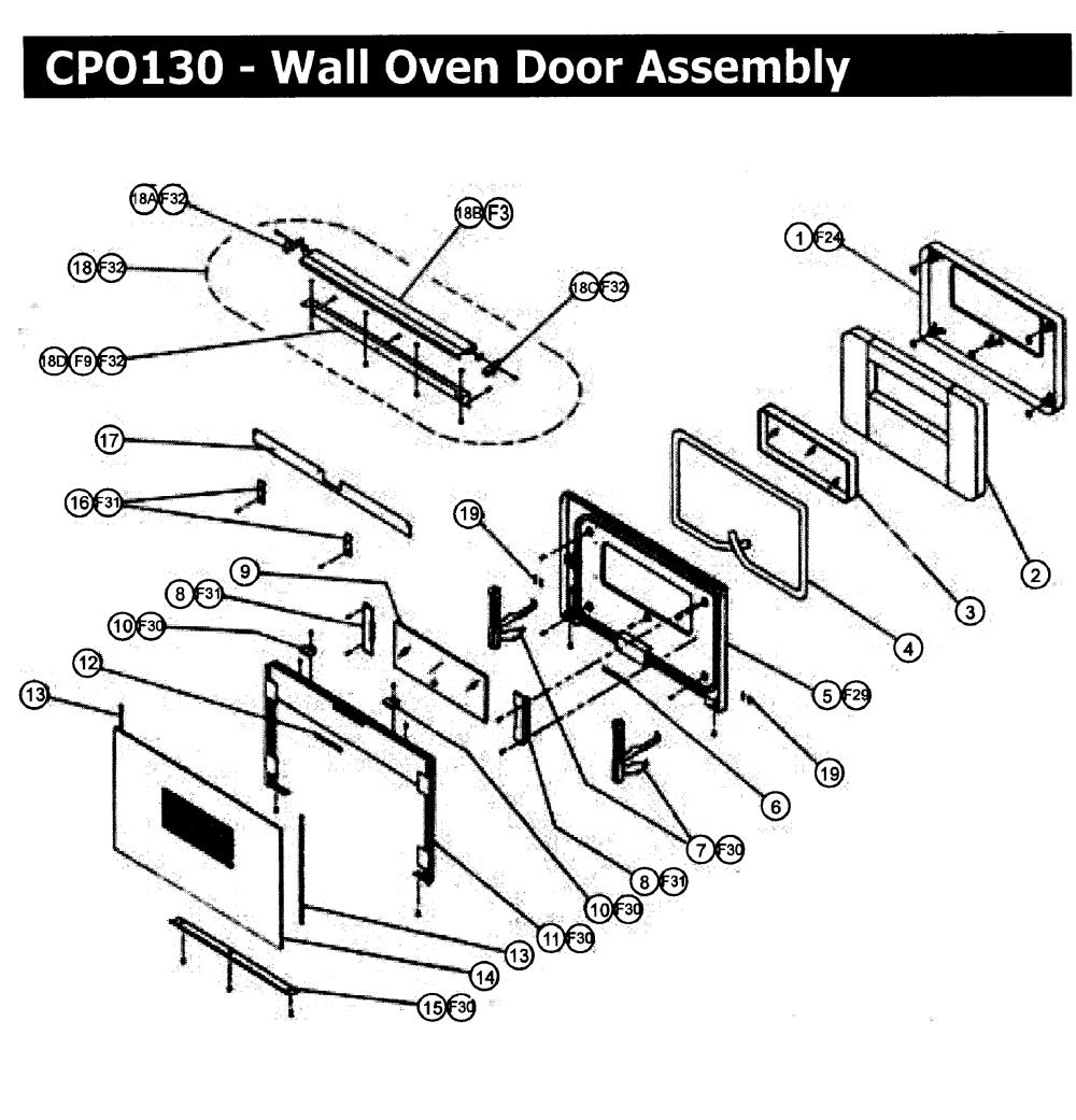 medium resolution of  wall oven wiring diagram door assy