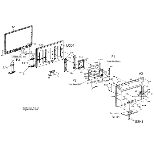small resolution of magnavox 39mf412b f7 ds1 cabinet parts diagram