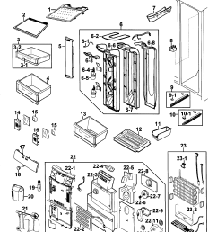 looking for samsung model rs264absh xaa 00 side by side refrigerator samsung refrigerator rs264absh wiring diagram [ 2399 x 2706 Pixel ]