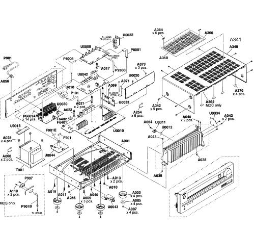 small resolution of onkyo model ht s5500 home theatre genuine partsonkyo wiring diagram 15