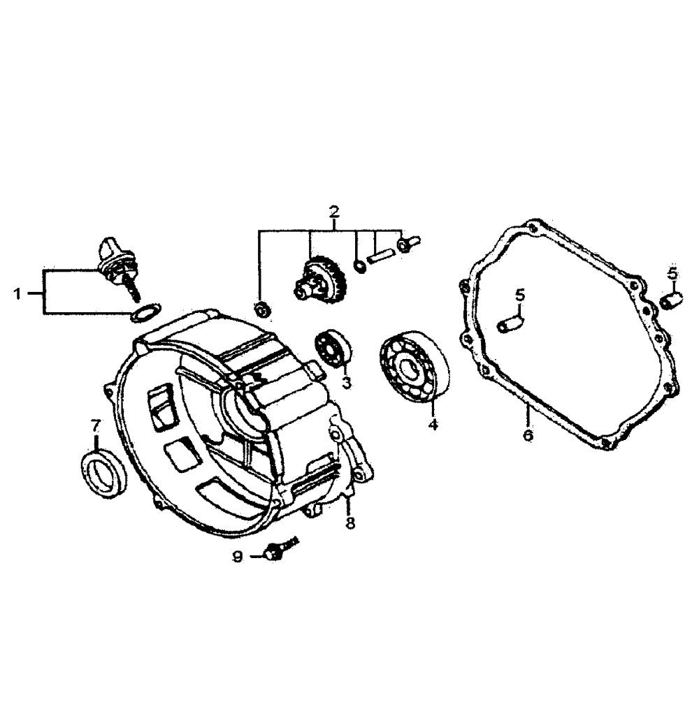 medium resolution of generac gp7500e 5943 0 crankcase cover diagram