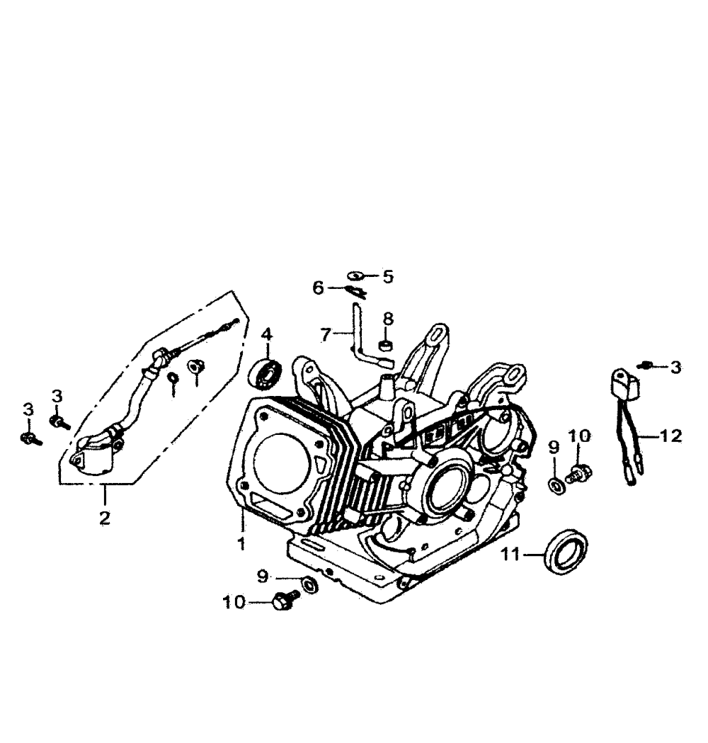 medium resolution of generac gp7500e 5943 0 crankcase diagram