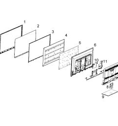rca led52b45rq cabinet parts diagram [ 2509 x 2501 Pixel ]