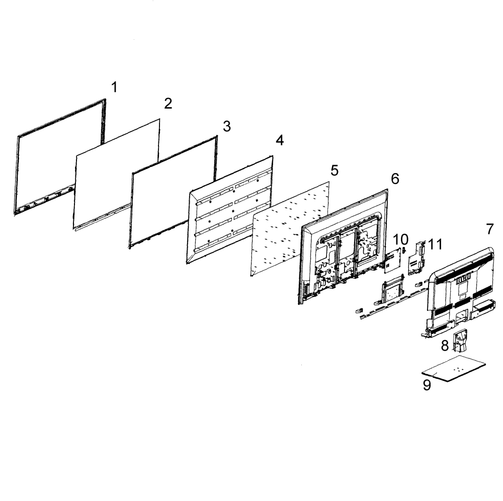 medium resolution of rca led52b45rq cabinet parts diagram