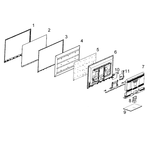 small resolution of rca led52b45rq cabinet parts diagram
