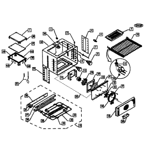 OVEN ASSY Diagram & Parts List for Model wos130ssph70085