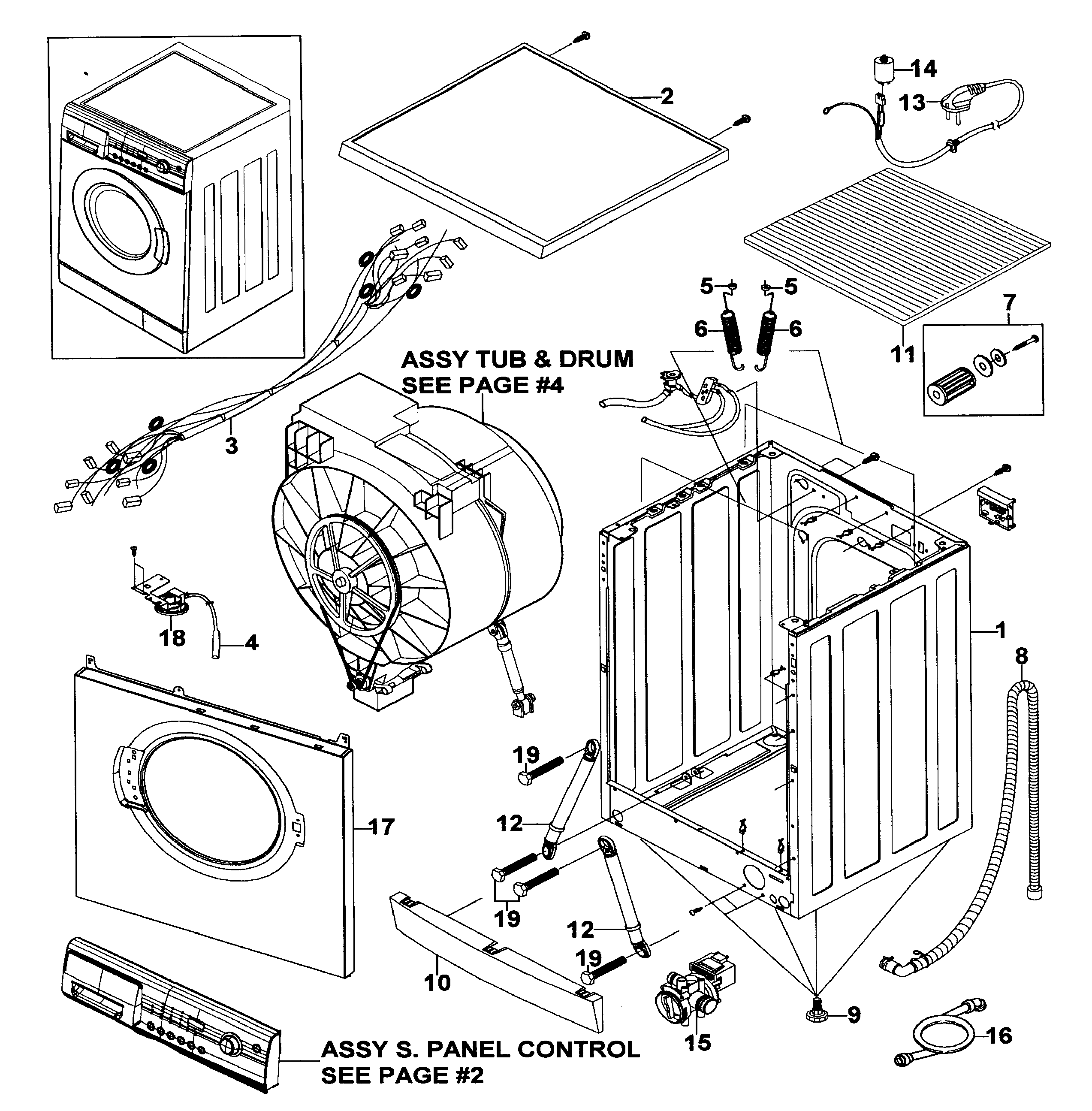 Samsung Front Load Washer Parts Enchanting Samsung Front Load