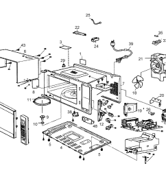 looking for panasonic model nn sn960s countertop microwave repair cabinet diagram and parts list for panasonic microwaveparts model [ 2549 x 2248 Pixel ]
