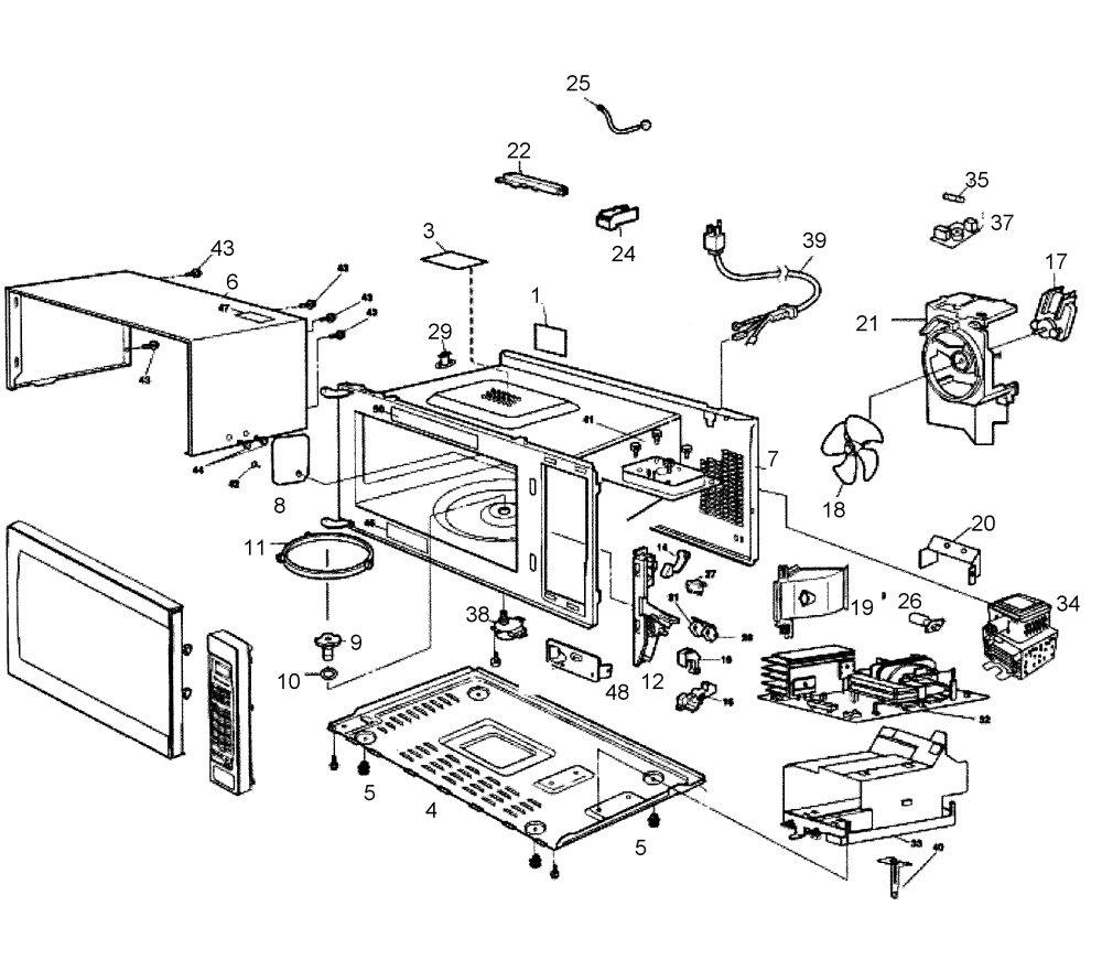 medium resolution of looking for panasonic model nn sn960s countertop microwave repair cabinet diagram and parts list for panasonic microwaveparts model