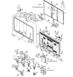 SHARP LED TELEVISION Parts | Model LC60LE650U | Sears