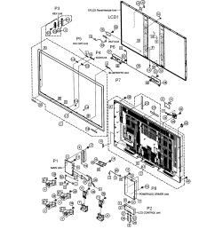 sharp model lc 70c6500u lcd television genuine parts tv repair schematic diagram sharp tv diagram [ 2542 x 2673 Pixel ]