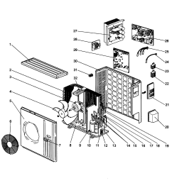 mitsubishi model muz d36na air conditioner heat pump outside unit dodge a c parts diagram a c parts diagram [ 2546 x 2677 Pixel ]