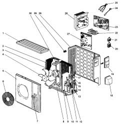 mitsubishi model muy ga24na air conditioner heat pump outside unit genuine parts [ 2545 x 2762 Pixel ]
