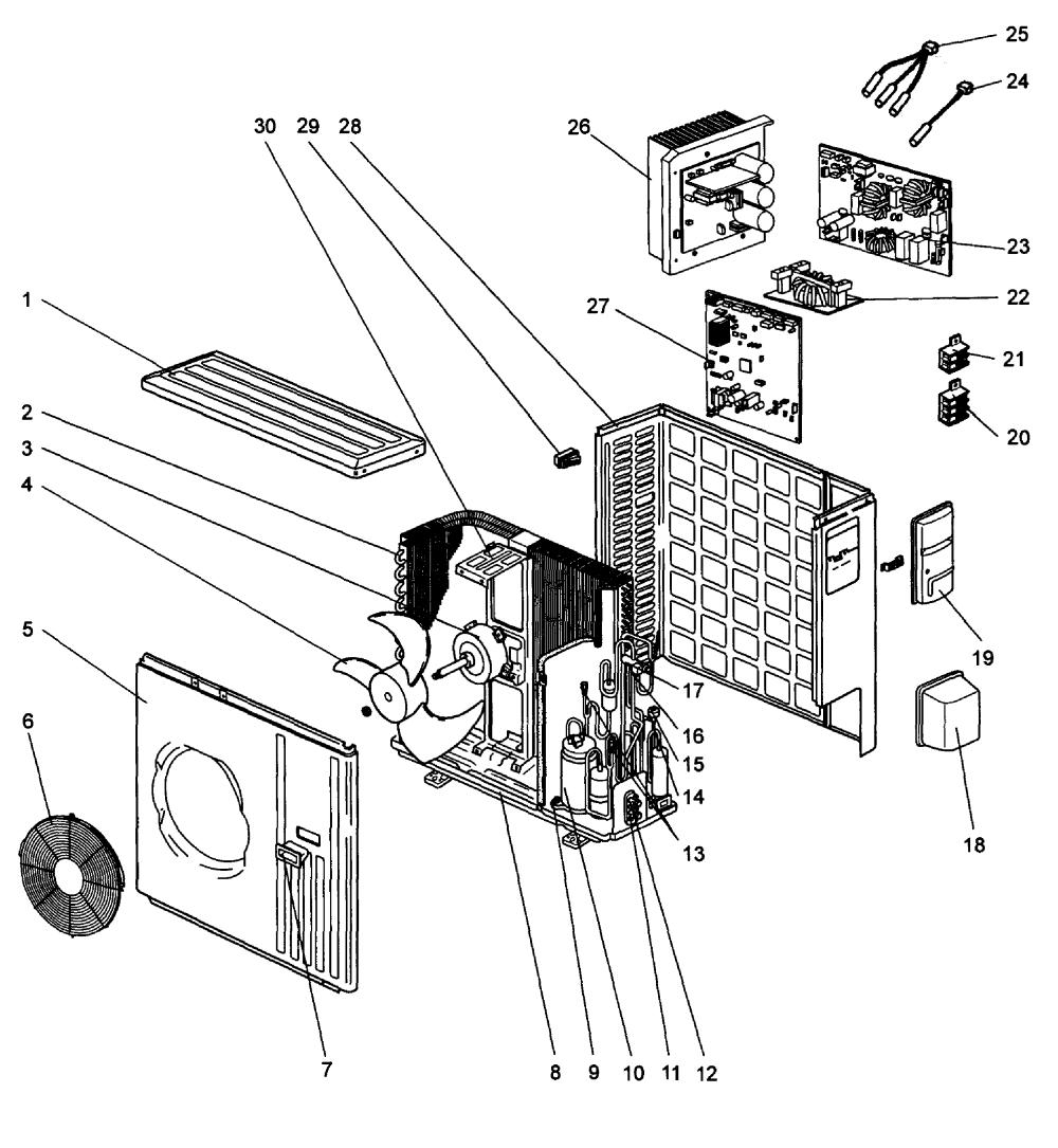 medium resolution of mitsubishi model muy ga24na air conditioner heat pump outside unit genuine parts