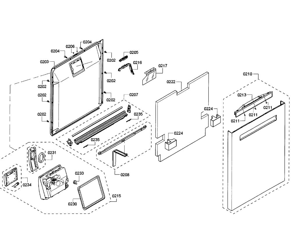 medium resolution of bosch shp65t55uc 01 door assy diagram