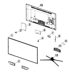 looking for samsung model un50f5500afxza lcd television repair led tv parts diagram [ 2545 x 2692 Pixel ]