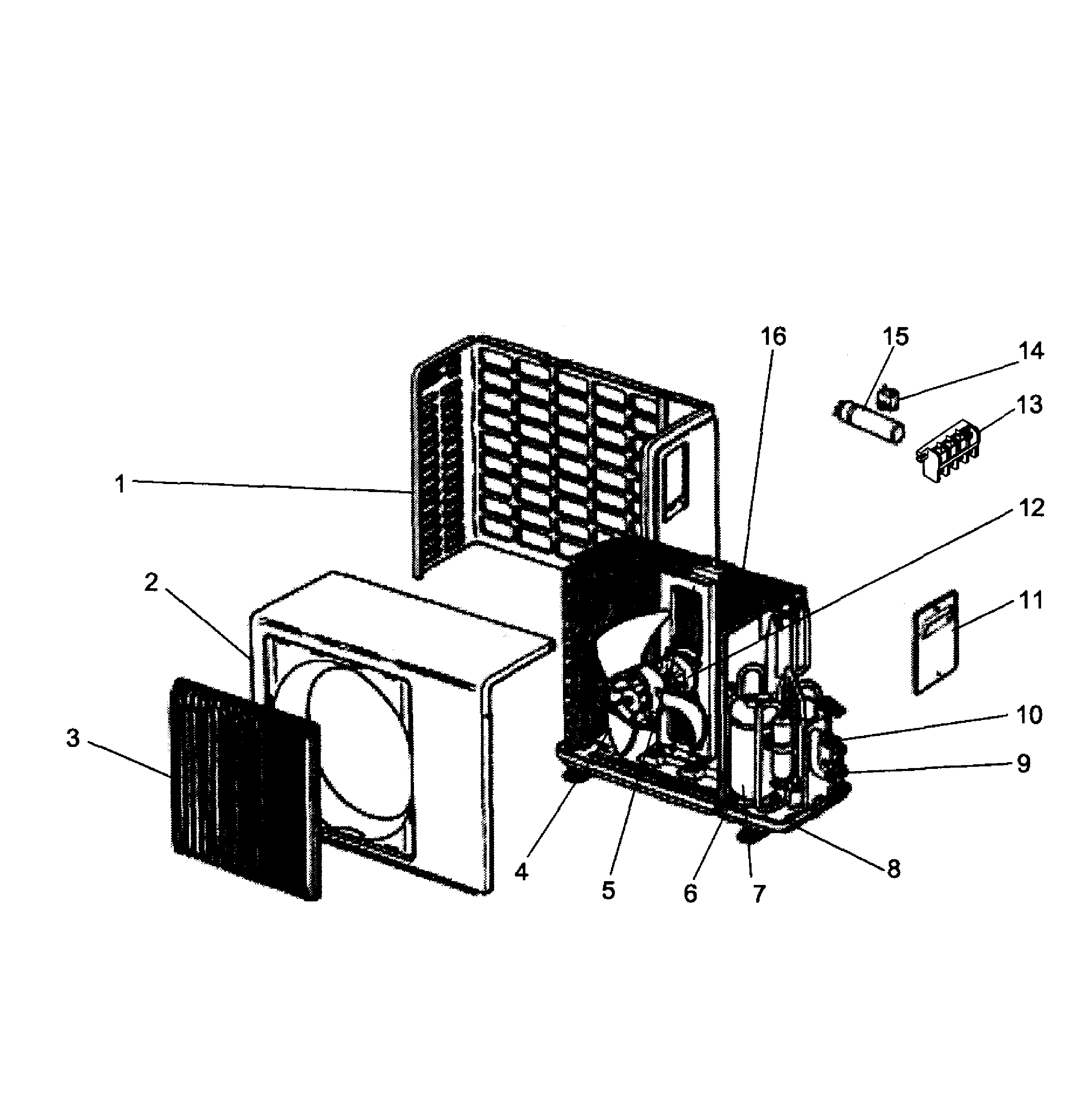 Outdoor Unit Diagram And Parts List For Mitsubishi
