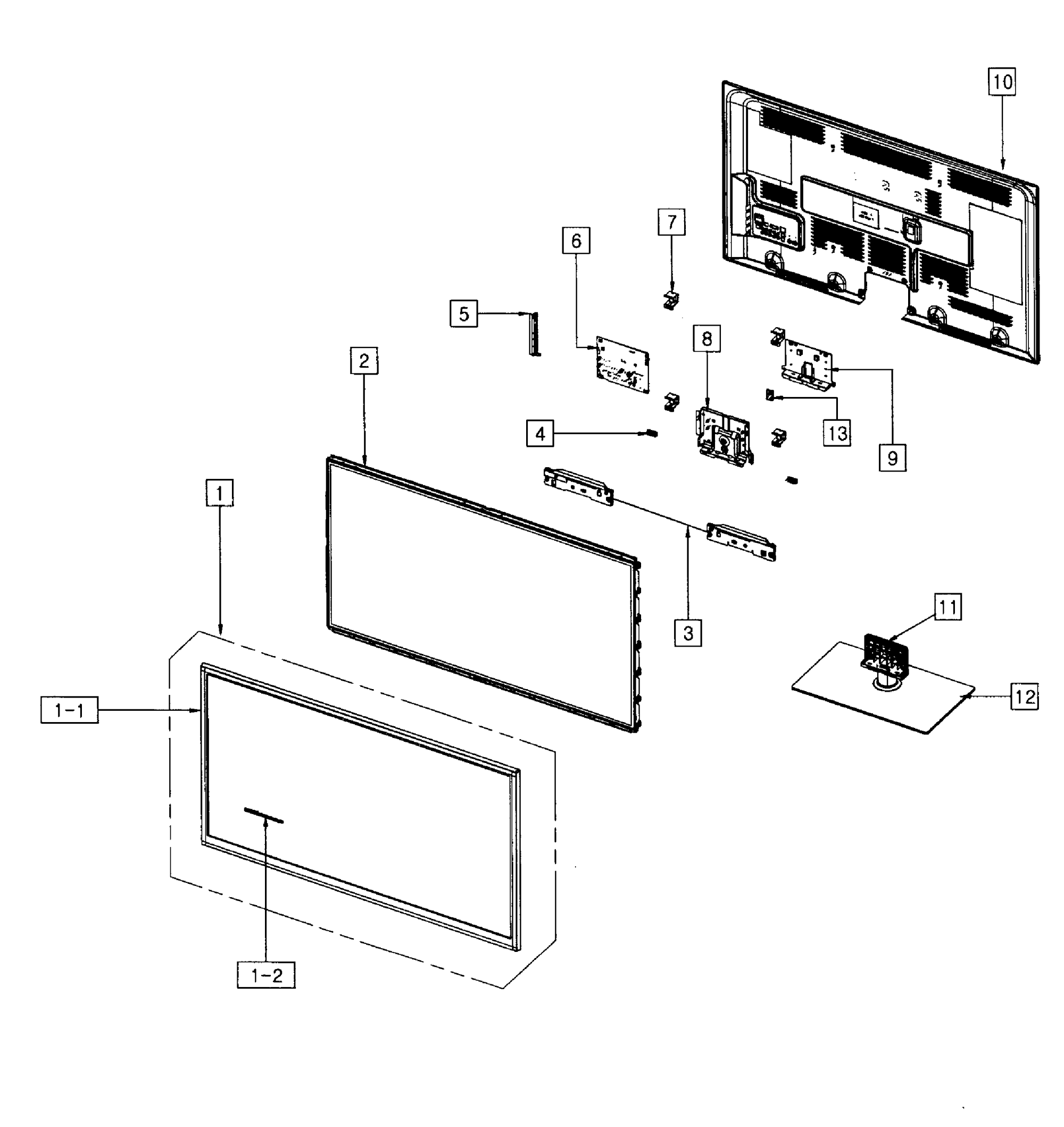 hight resolution of looking for samsung model pn43f4500afxza plasma television repairsamsung pn43f4500afxza cabinet parts diagram
