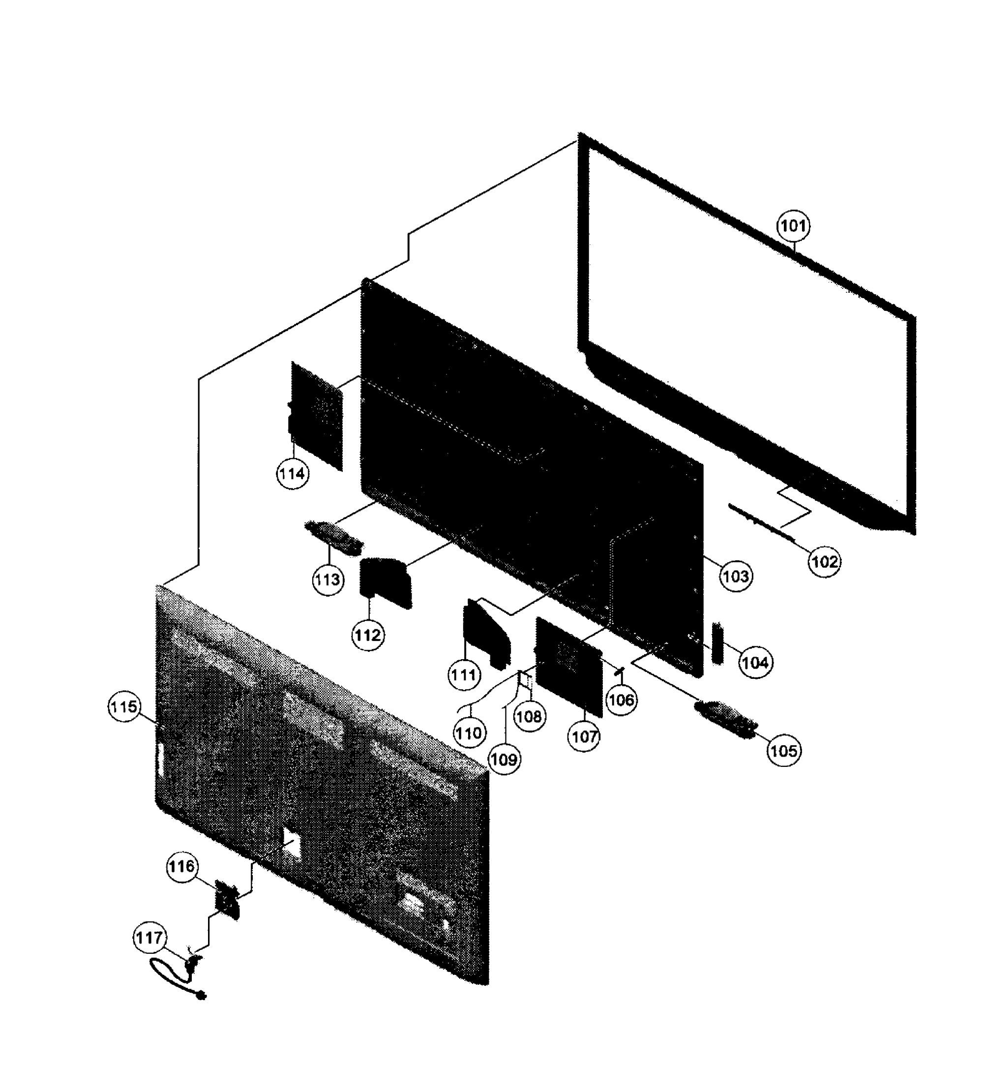 hight resolution of sony model kdl 60r520a lcd television genuine partsled tv parts diagram 17