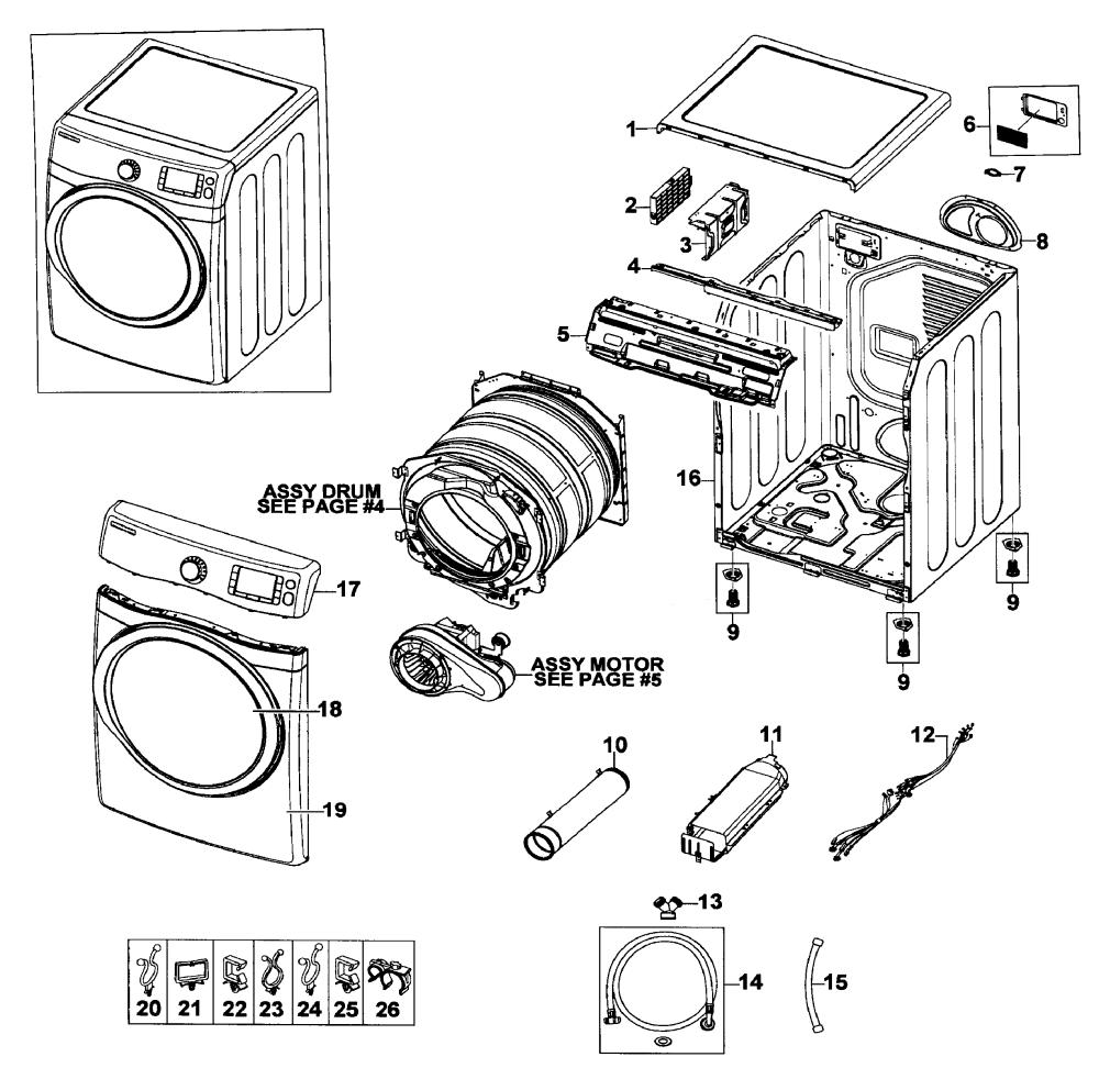 medium resolution of samsung dv520aep xaa 01 main assy diagram
